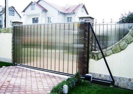 Ворота раздвижные и их установка.